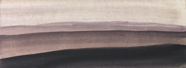 Landscape 18 2006-2010 watercolour and gouache on paper 14.9 x 29.9 cm (paper size) 43 x 68 cm (framed)